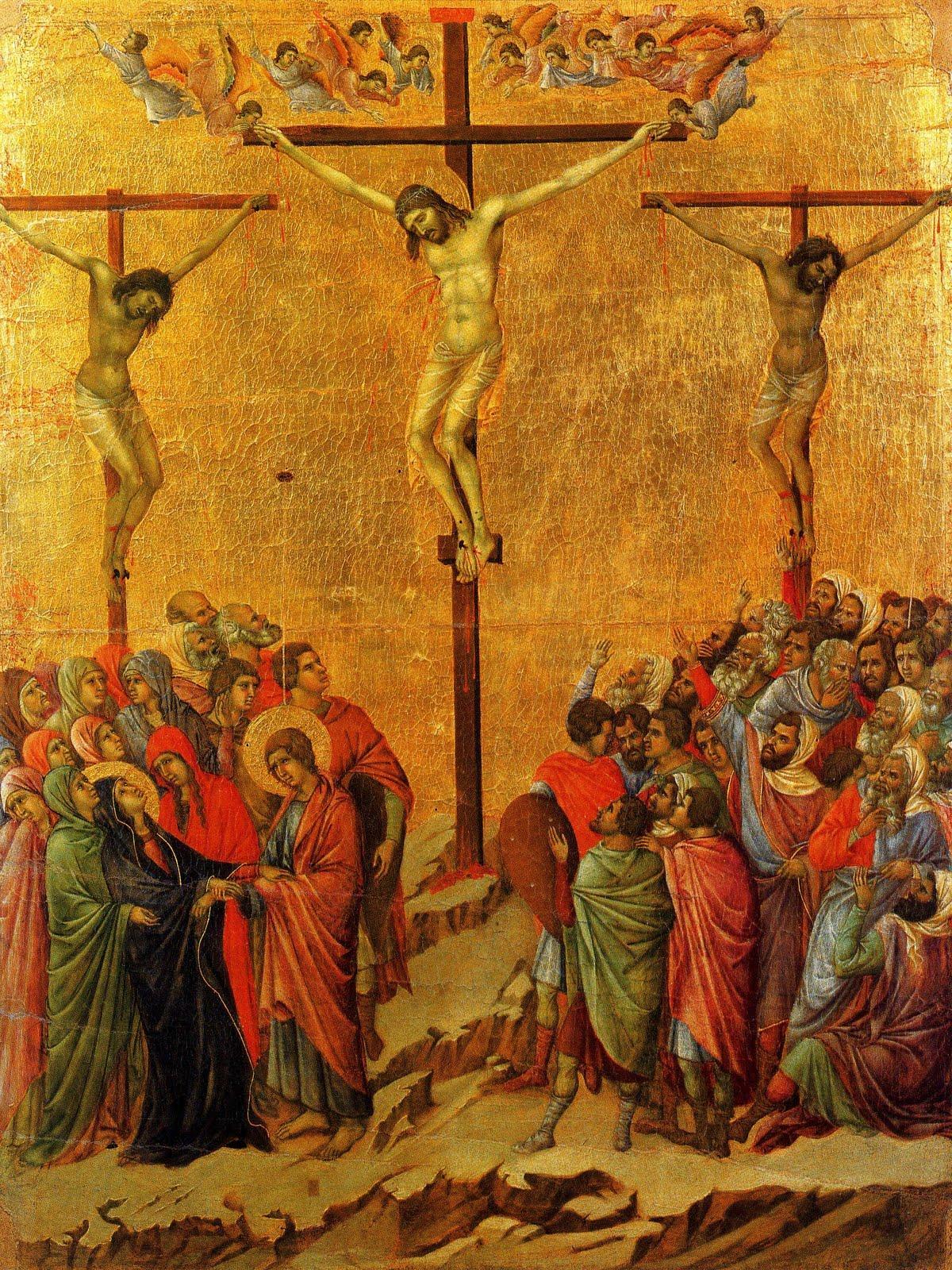 Crucifixion from the Maestà, 1308-11